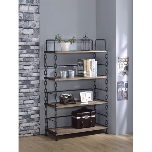 17 Stories Lipscomb Industrial Looking Etagere Bookcase by