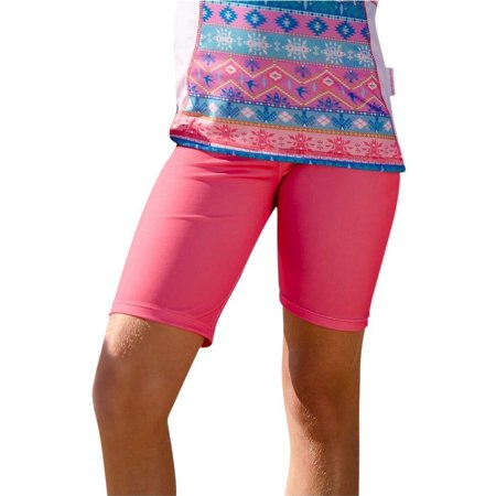 340f610753 Sun Emporium - Sun Emporium Girls Coral Pink Desert Flower Print Surfer  Shorts - Walmart.com