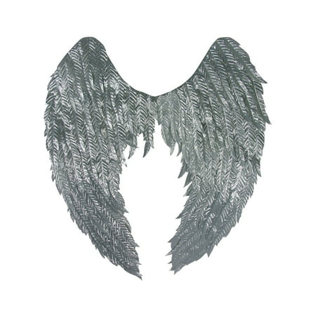 Silver Angel Wings Halloween Costume Accessory - Angel Wings Halloween