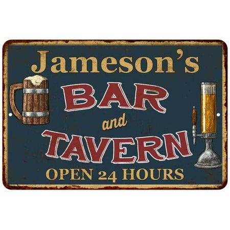 Jameson's Green Bar & Tavern Personalized Rustic Sign Decor 8x12 208120047849