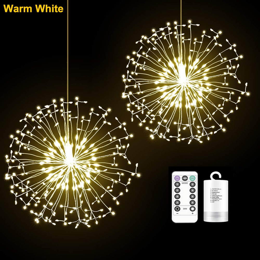 The Lakeside Collection Hanging Star Light for Indoor//Outdoor Starburst Chandelier with 8 Functions
