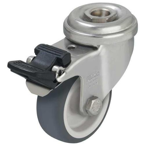 Kingpin Swivel Caster,Therm Rubber,3 in,165 lb,SS, LRXA-TPA 75G-FI