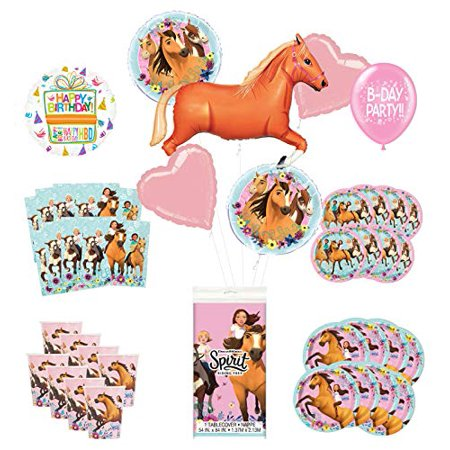 Mayflower Products Spirit Riding Free Birthday Party Supplies 8 Guest Decoration Kit and 43