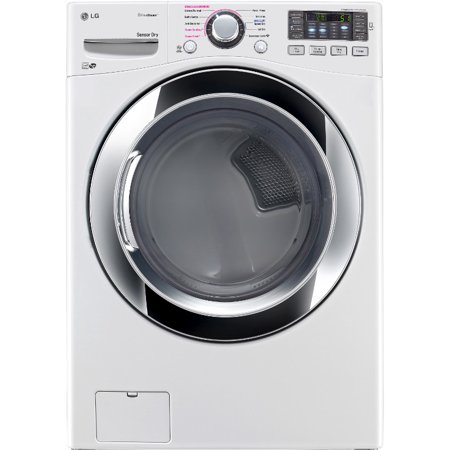 DLEX3370W 7.4 cu. ft. Electric Dryer with 10 Drying Cycles  TrueSteam Technology  Energy Star Rated  Reversible Door  Dual LED Display  SmartDiagnosis  Electronic Control Panel and Sensor Dr