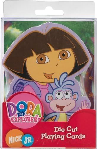 Dora the Explorer Shaped Playing Cards by