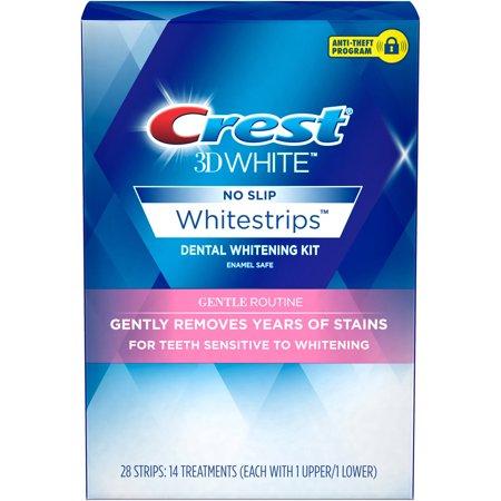 Blanc 3D sans glissement Whitestrips Kit de Blanchiment Dentaire