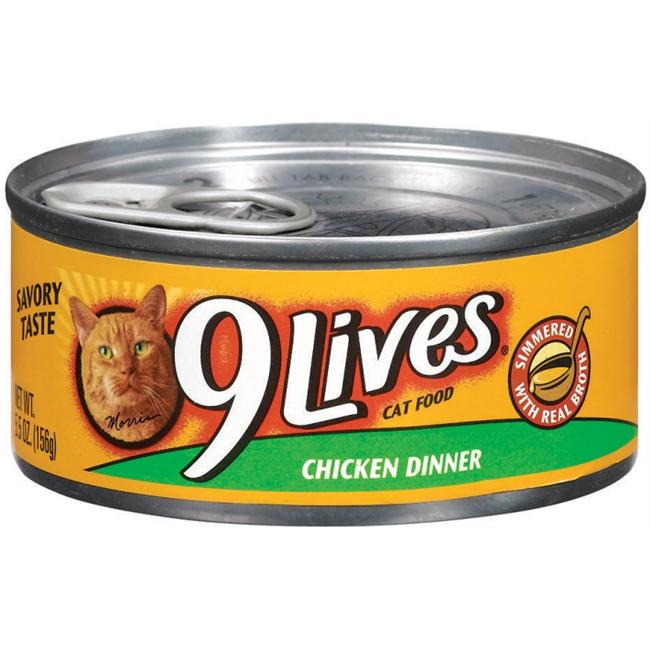 Del Monte Foods - Pet Food 5. 5 Oz Chicken Dinner 9Lives Canned Cat Food  79100- - Pack of 24