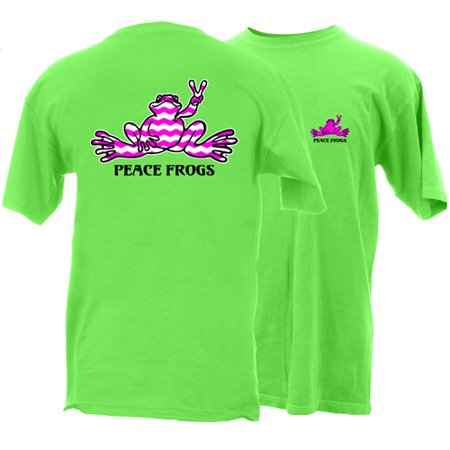 Peace Frogs Adult Chevron Frog Short Sleeve T-Shirt