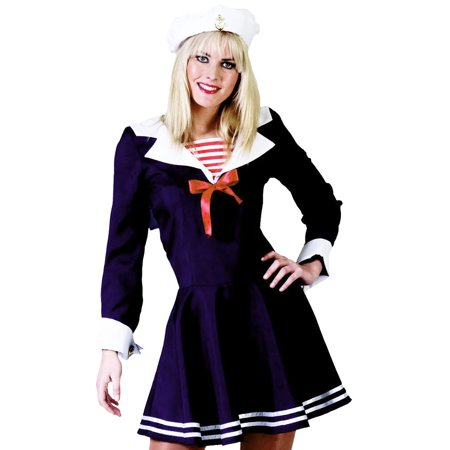 Funny Fashion Sexy Cute Womens Navy Sailor Halloween Costume (Funny Halloween Costumes 2017 Ideas)