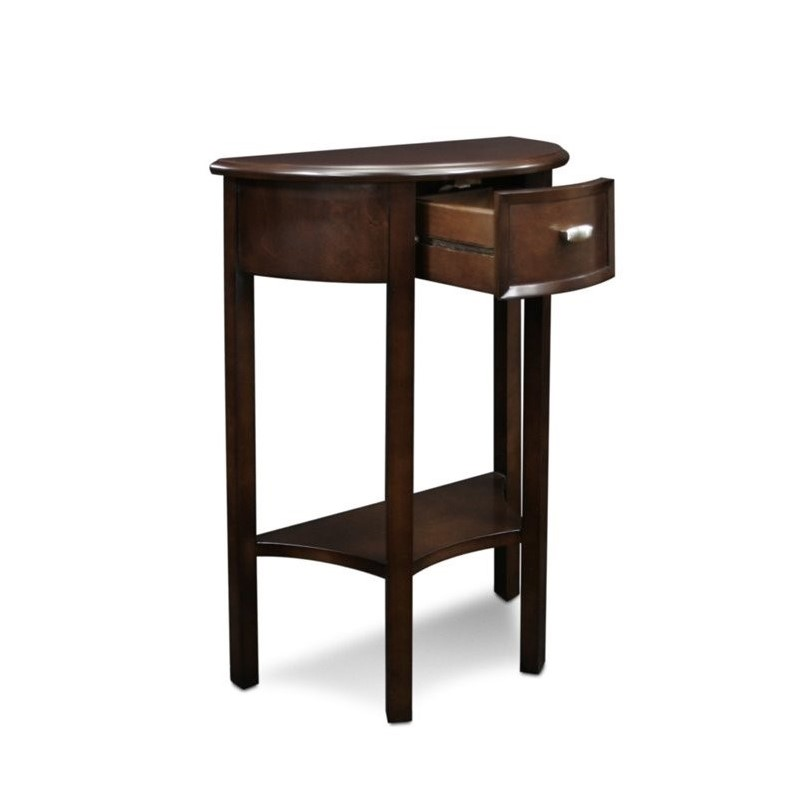 Bowery Hill Accent Table in Chocolate - image 3 de 5