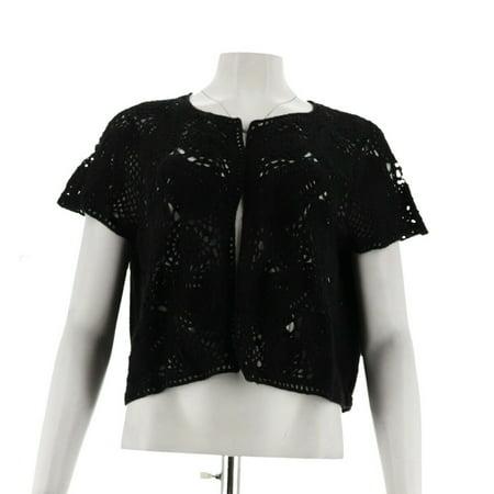 Liz Claiborne NY Hand Crochet Sweater Knit Shrug A263436