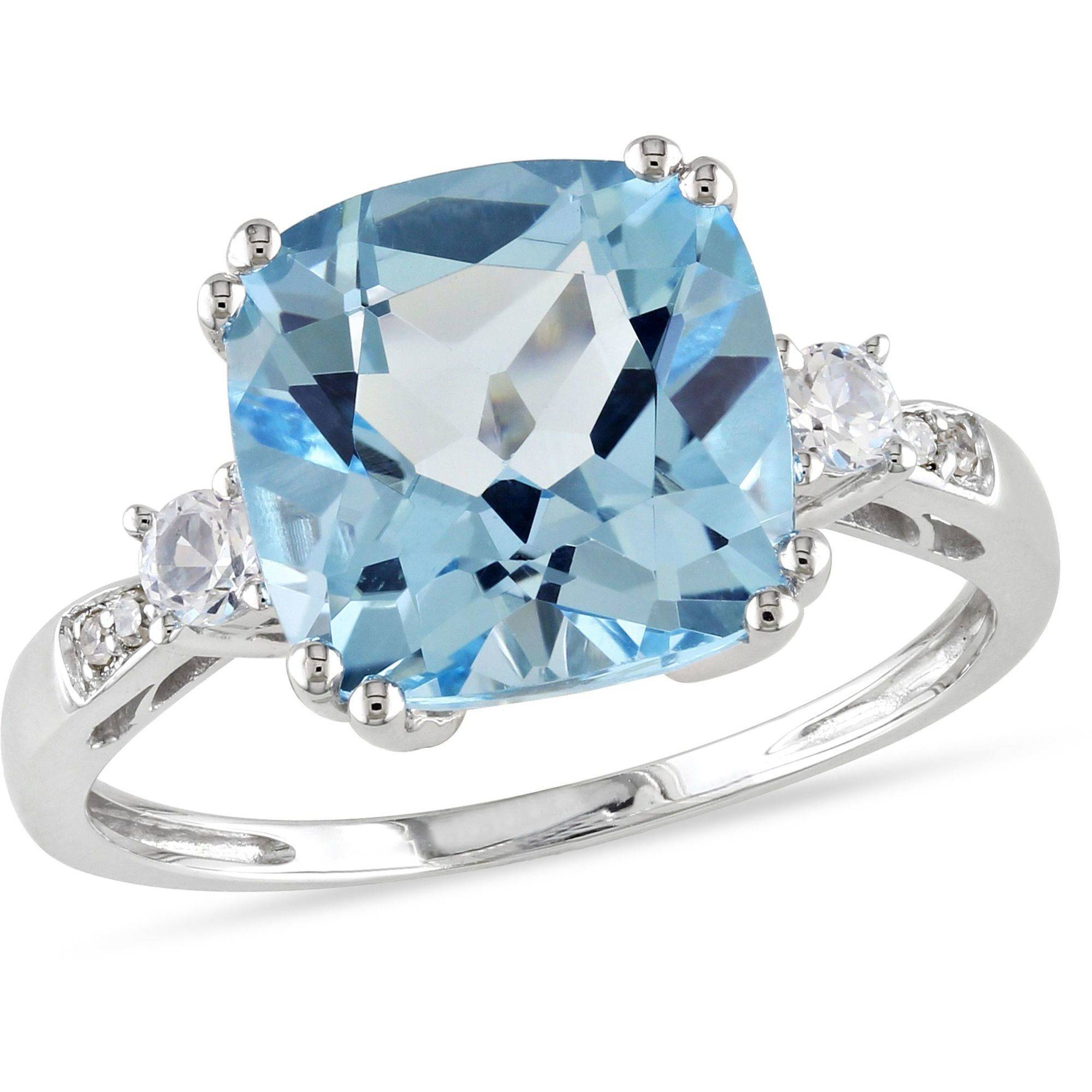 5-5/8 Carat T.G.W. Blue Topaz And Created White