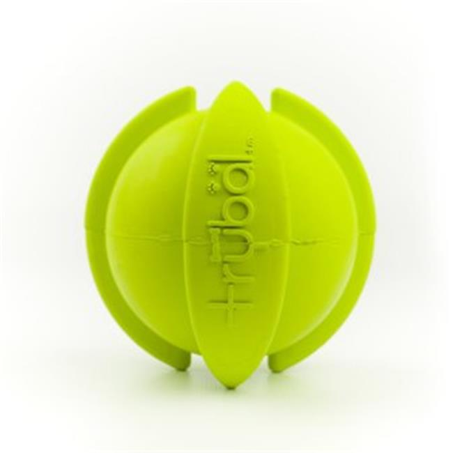 PetProjekt LGTBAL11 Large Trybal Rubber Dog Toy, Green