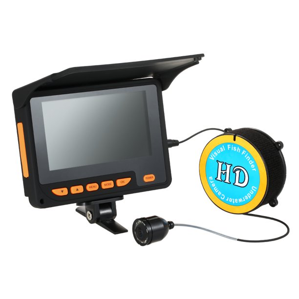 "Lixada 20M 1000TVL Fish Finder Underwater Ice Fishing Camera 4.3"" LCD Monitor 8 Infrared IR LED Night Vision Camera 140° Wide Angle"