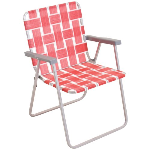 Mainstays Classic Folding Web Chair Red Walmart Com