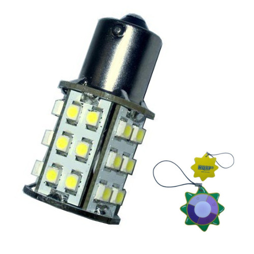 HQRP BA15s Bayonet Base 30 LEDs SMD 3528 LED Bulb Cool White for #1141 #1156 Casita RV Interior   Porch Lights... by HQRP