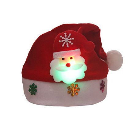 Christmas Hats For Kids.Soft Warm Caps Unisex Winter Hats Lightweight Christmas Hats Xmas Kids Boys Girls Gift