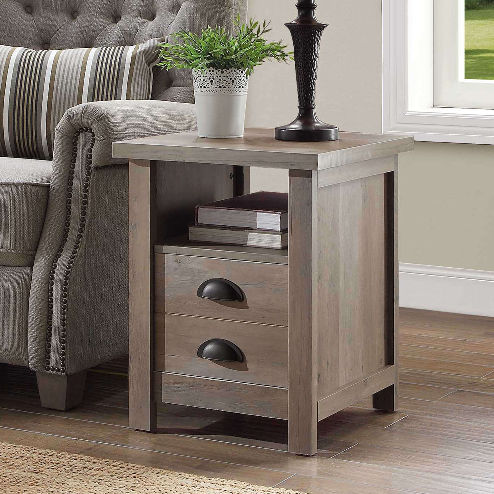 Lovely Better Homes and Gardens Granary Modern Farmhouse End Table Multiple Finishes