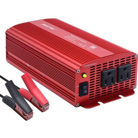 BESTEK 1000W 12V DC to 110V AC Power Inverter for Car Dual AC Outlets Car Power