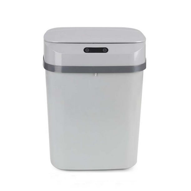 Happyline Powder Rooms Wastebaskets Intelligent Sensor Trash Can Bedroom Kitchen Trash Can Multifunction Round Trash Can Suitable For Storing Peel Confetti 13l Walmart Com Walmart Com