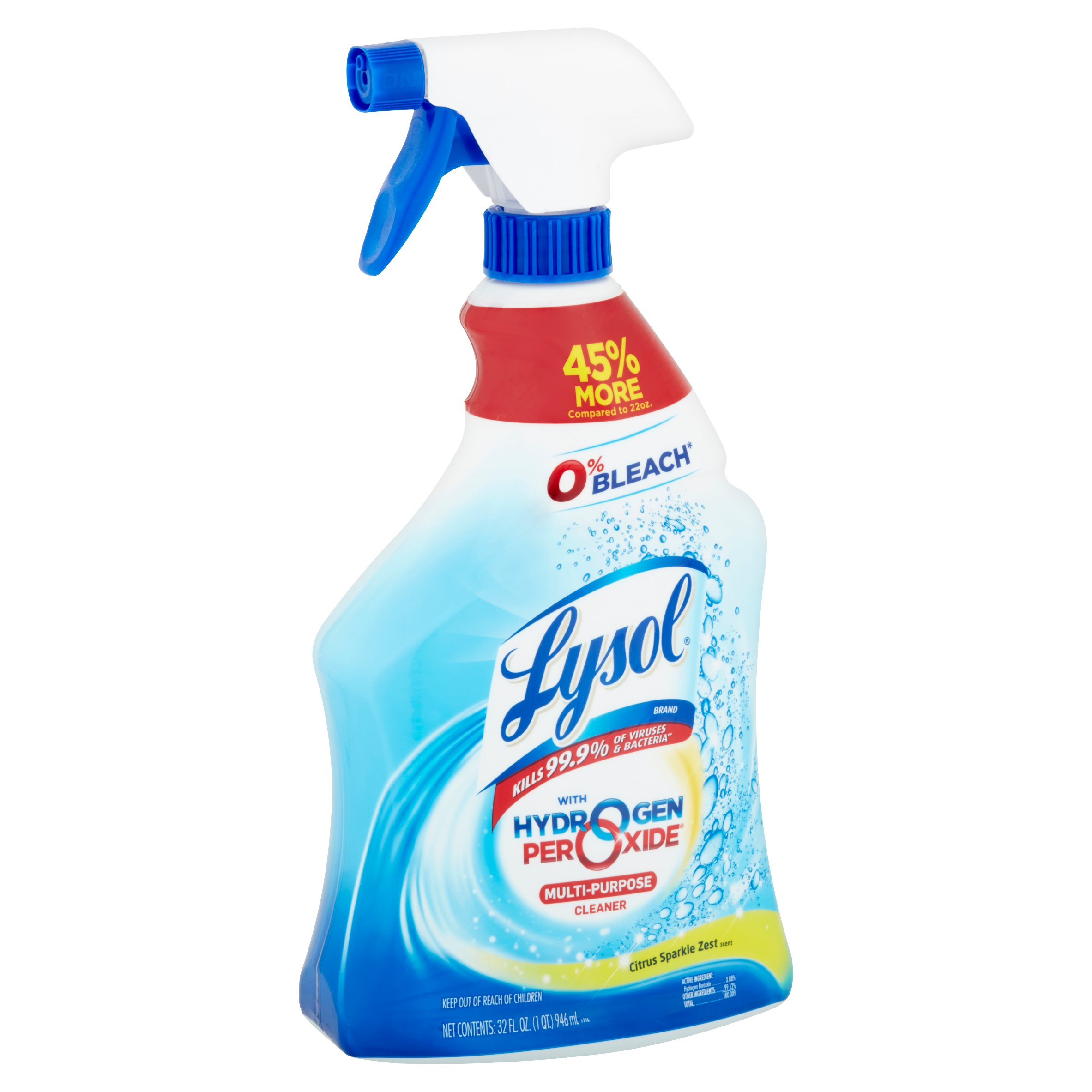 Lysol Power and Free Multi-Purpose Cleaner, Citrus Sparkle, 32 Ounce