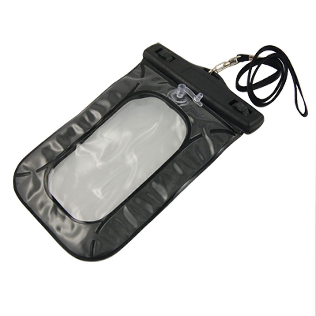 Cell Phone PDA Water Resistant Bag Pouch Black w Strap