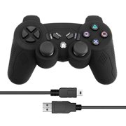 AUTCARIBLE For PS3 Game Controller Wireless Double Shock Controller for Playstation 3 with Charging Cord