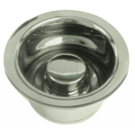 Westbrass InSinkErator Style Extra-Deep Disposal Flange and Stopper D2082 in Stainless Steel
