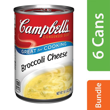 (6 Pack) Campbell's Condensed Broccoli Cheese Soup, 10.5 oz. (Best Beer For Beer Cheese Soup)