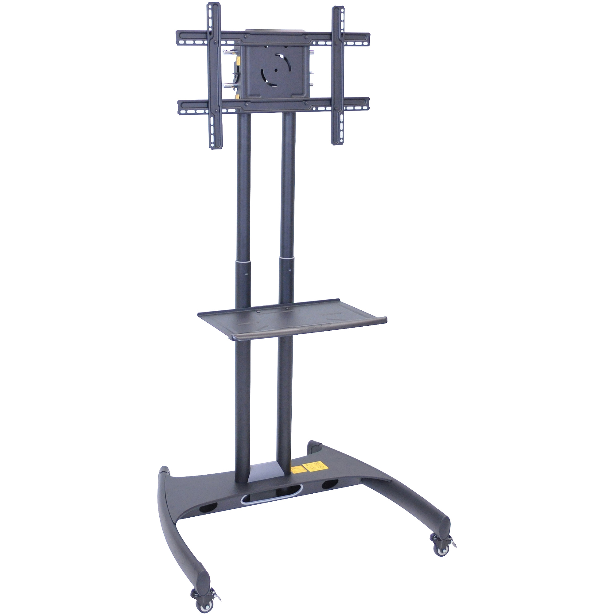 Luxor Adjustable Height TV Stand, Mount and Shelf, Black by Luxor