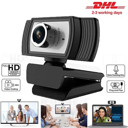 HD Webcam 1080P Streaming Web Camera with Microphones, Webcam for Gaming Conferencing & Working, Laptop or Desktop PC, USB Computer Camera for Mac Xbox YouTube Skype OBS Microsoft Teams, DingTalk Streaming Web Cameras