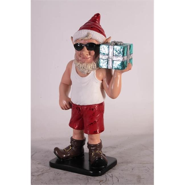 Queens of Christmas WL-ELF-02 2 ft.  Christmas ELF Figurine with Gift Package