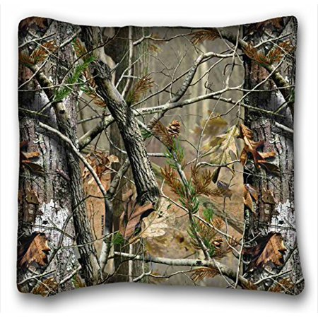 WinHome Soft Throw Zippered Pillow Case Cover Camouflage Camo Tree Hunter Dry Branches Leaves Oak Woodland Camo Vintage Retro Personalized Pillowcase 18x18