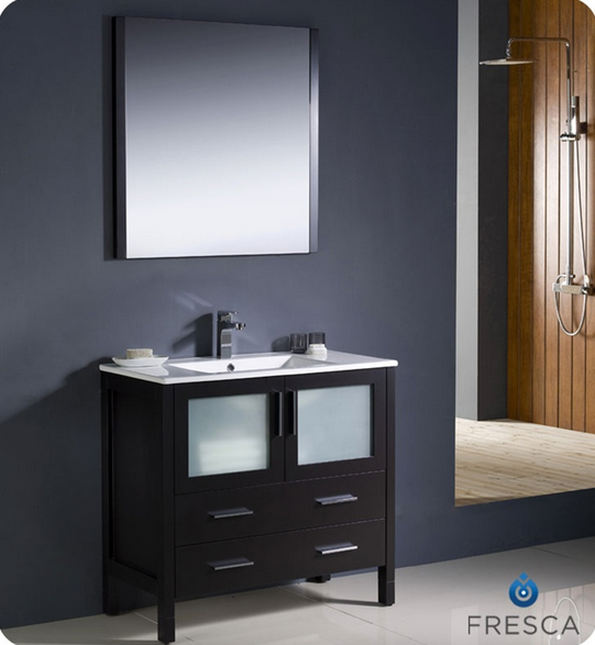 Fresca Torino 36'' Single Modern Bathroom Vanity Set with Mirror