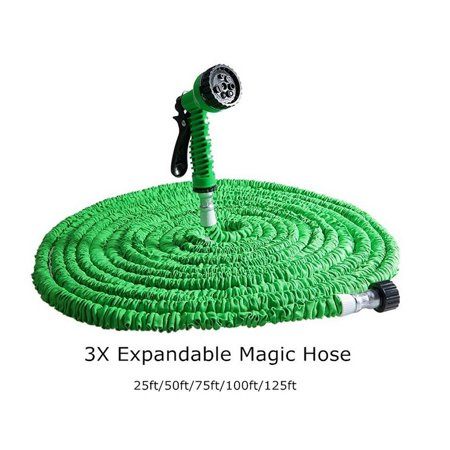 25ft Expandable Garden Hose Water Pipe Spray Nozzle ()