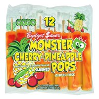 Budget Saver Slushed Cherry-Pineapple Monster Pops, 12 ct