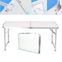 UBesGoo Aluminum Folding Table 4'Portable Outdoor Picnic Camping Table Party Wedding