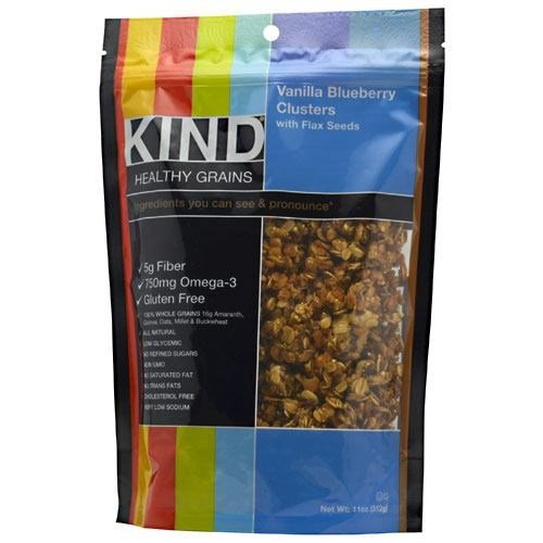 Kind Healthy Grains Vanilla Bberry Clusters Snack - Gluten-free, Non-gmo, Cholesterol-free, Resealable Container - Vanilla Blueberry - 1 Each (knd-17285)