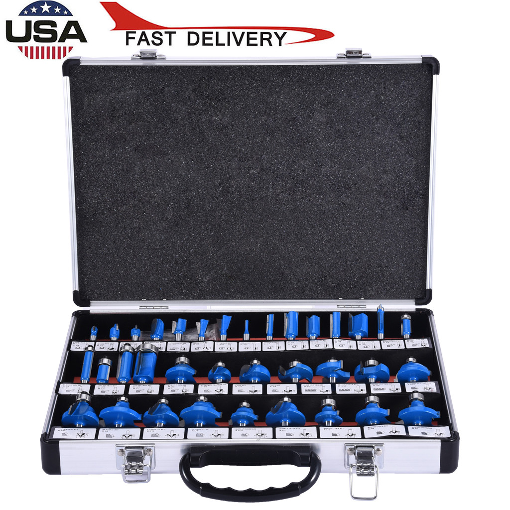 """Router Bits 35pcs 1//2/"""" Shank Carbide Blade Woodworking Tool Router Bits Cutting"""