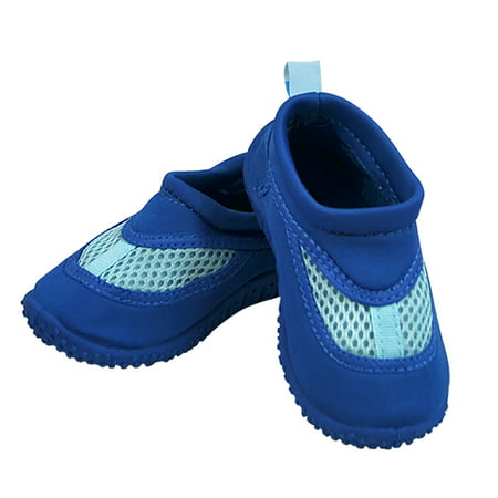 Iplay Baby Boys Sand and Water Swim Shoes Kids Aqua Socks for Babies, Infants, Toddlers, and Children Royal Blue Size 4 / Zapatos De Agua (Zapatos Men Jordan)