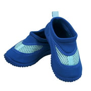 Iplay Baby Boys Sand and Water Swim Shoes Kids Aqua Socks for Babies, Infants, Toddlers, and Children Royal Blue Size 4 / Zapatos De Agua