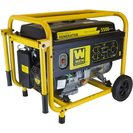WEN 5500W 389cc 13-HP OHV Gas-Powered Portable Generator with Wheel Kit