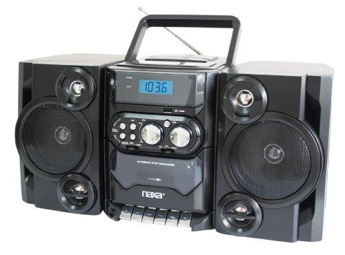 Naxa Npb-428 Mini Hi-fi System Black Cd Player, Cassette Recorder 1 Cassette[s] Fm, Am Cd-da, Mp3 Usb Remote... by Naxa