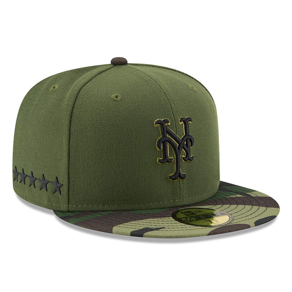 New York Mets New Era 2017 Memorial Day 59FIFTY Fitted Hat - Green