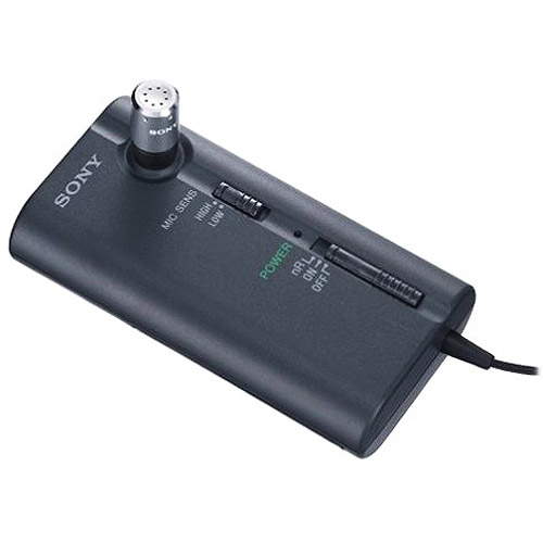 sony ecm-cr120 omnidirectional clip-on business microphone with noise-reduction