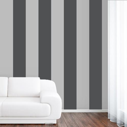 Stripes Small Wall Decal (Set of 4) PLUM PURPLE