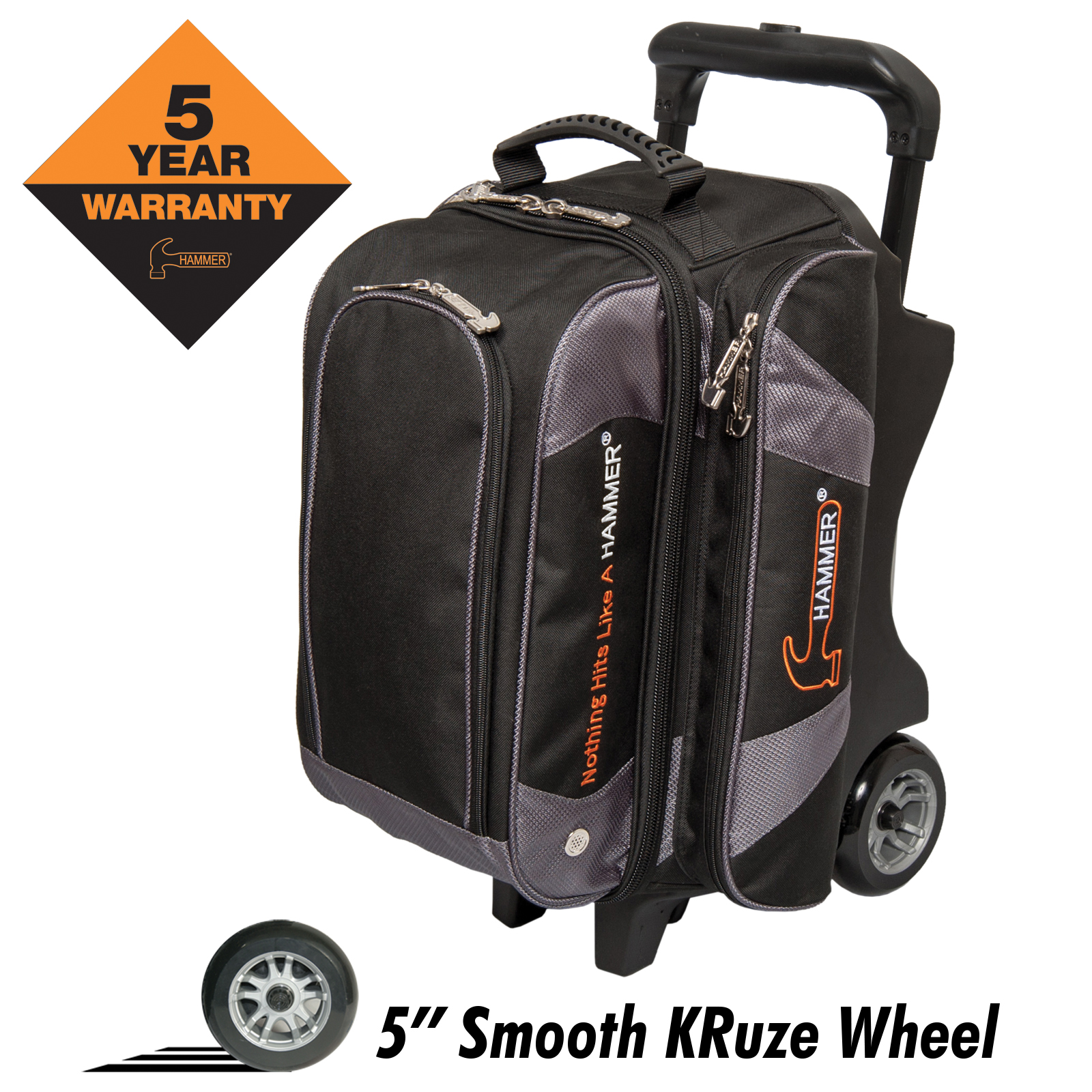 Hammer Premium Two Ball Roller Bowling Bag Black Carbon