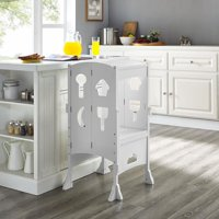 Kids I'm a Big Helper, Counter Stool for Kids by Naomi Home-Finish:White