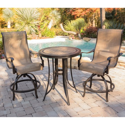 Fleur De Lis Living Bucci 3 Pieces High-Dining Set