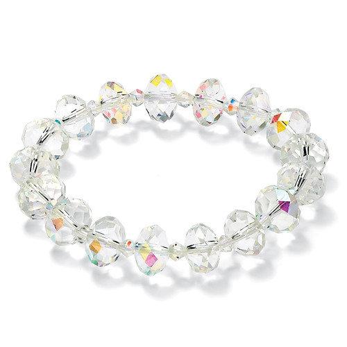 Palm Beach Jewelry Aurora Borealis Stretch Beaded Bracelet